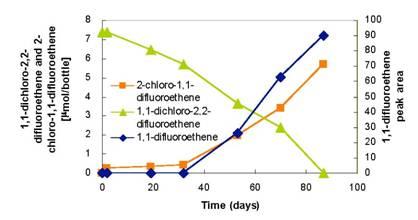 Dechlorination of 1,1-Dichloro-2,2-difluoroethene by Sulfurospirillum multivorans