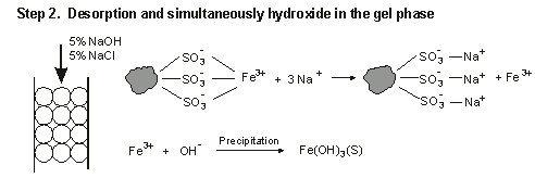 Step 2. Desporption and simultaeously hydroxide in the gel phase