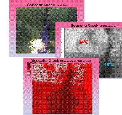 Figure 2. Reclassifying TIR imagery to determine temperatures.