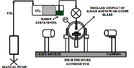 Final report carbon dioxide soluble binders for environmentally schematic diagram of the tandem high pressure pendant drop tensiometer and contact angle goniometer for the sugar acetate system aloadofball Gallery