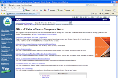 The Effect of Climate Change on Water Resources and Programs